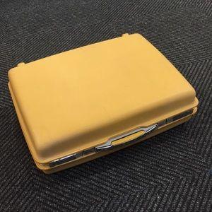 Vintage hard shell mustard suitcase